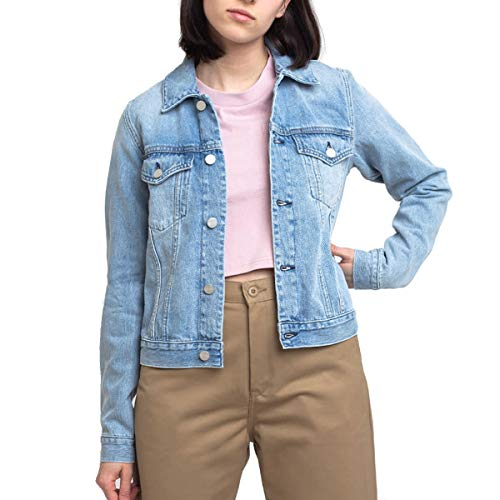 Carhartt Womens Jetson Jacket I028020 Blue Stone - Chaqueta vaquera para mujer (S - Stone)