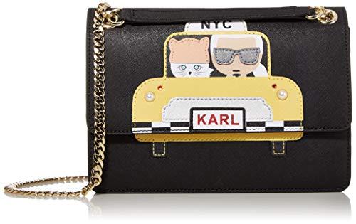 Karl Lagerfeld Paris Damen MAYBELLE NOVELTY FLAP SHOULDER BAG Umhängetasche, Taxi Yellow, Einheitsgröße