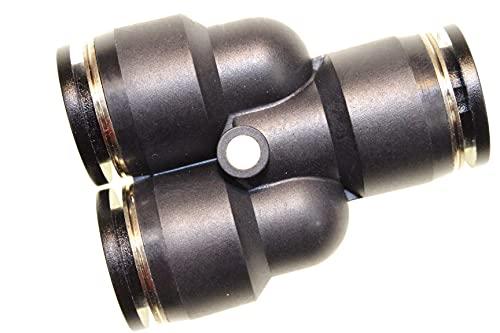 Conector de aire comprimido neumático conector rápido conector de manguera, pieza en Y, diámetro de 12 mm, adaptador para sistema de conexión, pieza de conexión atornillada