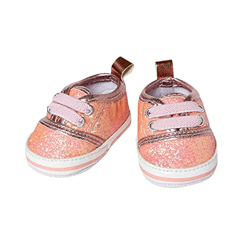 Heless 148 Glitzer-Sneaker für Puppen, in Rosa, Größe 38-45 cm, schickes Schuhwerk mit Wow-Effekt für besondere Anlässe