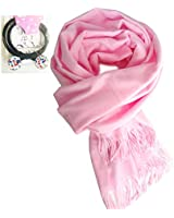 infinity Scarf Blanket Cashmere Women Men Pink,LONGWEIZ Unisex Winter Warm Cozy Scarf for Women and Men