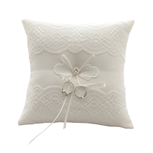 Western-Style NEW Elegant Rose with Lace Wedding Flower Gift Ring Box Pillow Cushion Wedding decor