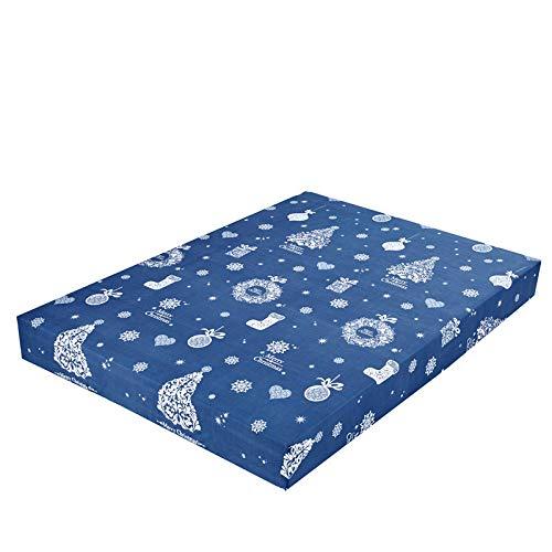 XGguo Protector de colchón de bambú Funda de colchón y Ajustable Sábana de Cama Impresa Funda Protectora cepillada-1_150X200 + 25cm