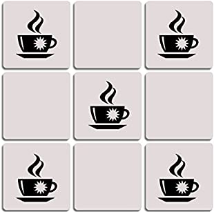 COFFEE CUP TEA MUG WALL TILE STICKERS Kitchen Home Decor Vinyl Decals
