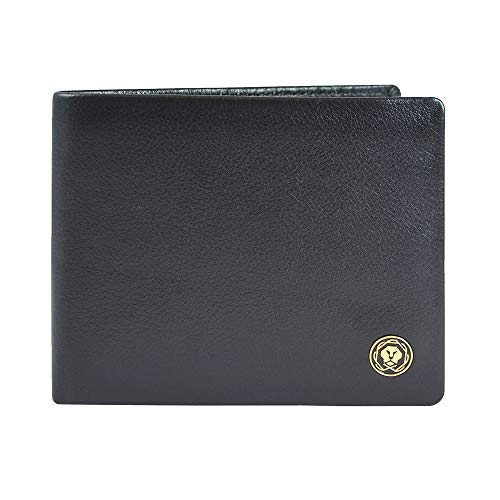Cross Black Men's Wallet Stylish Genuine Leather Wallets for Men Latest Gents Purse with Card Holder Compartment (AC298121_1-1)