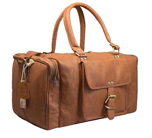 Leaderachi Leather Travel Duffle Bag [La Spezia-Tan]