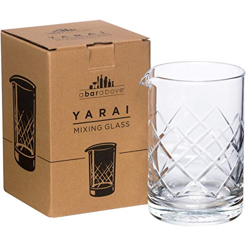 A Bar Above Mixing Glass for Stirred Cocktails (Yarai Style) Seamless, Thick & Durable mixing glass for Craft Bars & Professional Bartenders