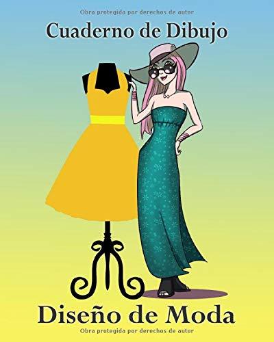Cuaderno de Dibujo, Diseño de Moda: Libro de Bocetos Para Diseñadora Principiantes, Boceto de Mujer con Sombrero