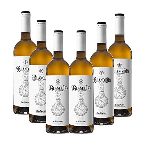Vino Blanco joven Blanquito - D.O. Rías Baixas – Pack 6 botellas Vino Blanquito – Selección vins&co barcelona - 750 ml