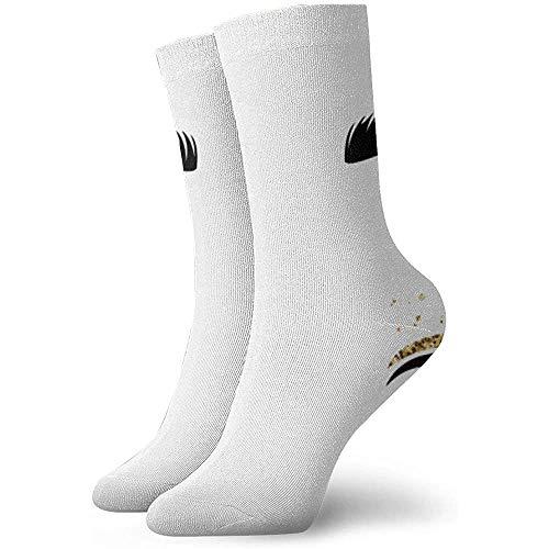 Dydan Tne Vektor-Illustration von Augen mit Wimpern. Für Beauty Salon, Lash Extensions Maker. Socken Socken Sport Tube Strümpfe
