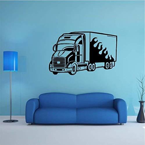 Neue Wand Home Wandbild Vinyl Aufkleber Aufkleber Dekor Lkw Feuer Anhänger Anhänger Auto Shop Abnehmbare Wand Vinyl Aufkleber 80 * 51