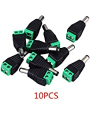 10pcs 12V Male 2.1x5.5mm DC Power Jack Plug Adapter Connector for CCTV Power Cable
