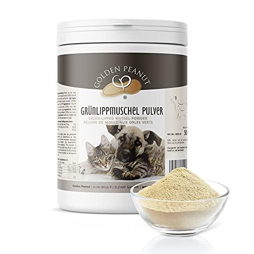 Golden Peanut Grünlippmuschelpulver Neuseeland Muschel Extrakt Premium Qualität für Hunde und Katzen 500g Dose