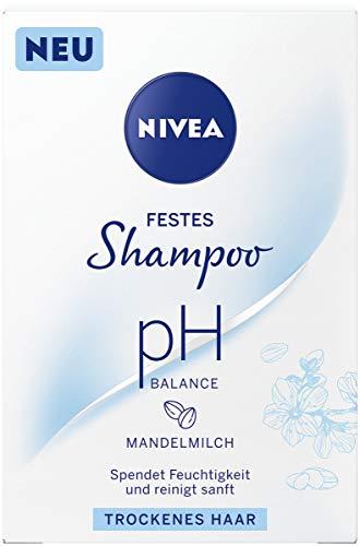 NIVEA festes Shampoo pH Balance für trockenes Haar (75 g), sanft reinigendes...