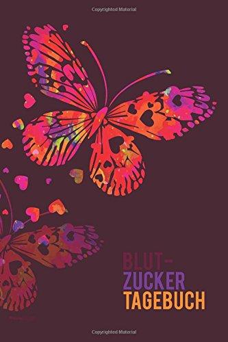 Blutzucker Tagebuch: Schmetterling, Bordeaux