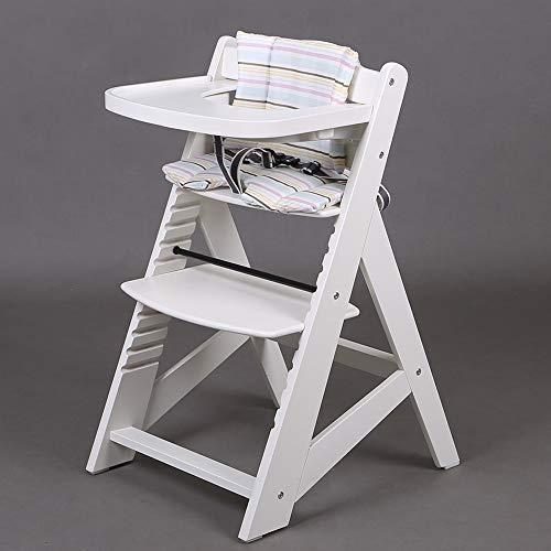 Hochstuhl Treppenhochstuhl Babyhochstuhl Kinderhochstuhl Kindertreppenhochstuhl Babystuhl 65510-01 Weiss/Grau
