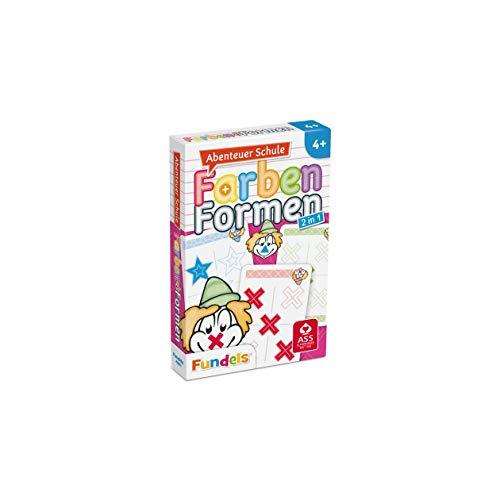 ASS Altenburger 22572845 - Abenteuer Schule, Farben und Formen, Kartenspiel, Lernspiel