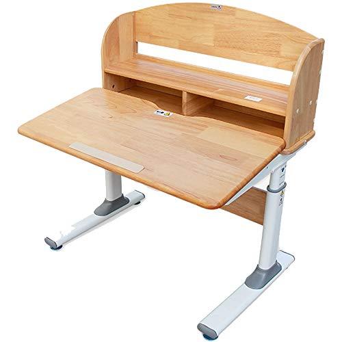 HUIO Kids Tale & Chair Set Child Study Desk Multifunktionales Schreibtisch Kinder Study Table School Student Desk Buchständer HV Kindermöbel (Color : Natural, Size : One Size)