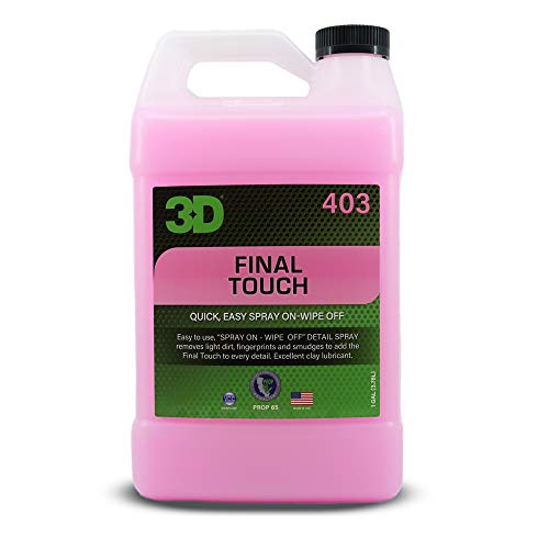 3D Final Touch - Quick Waterless Detailer Spray & Dust Remover with Wax Protection for Auto Maintenance & Showroom Shine 1 Gallon