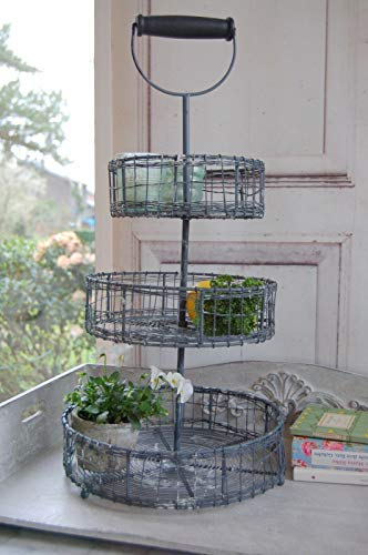 windschief living Charmante Landhaus Etagere Garden im Antique Shabby chic Stil, 60 cm