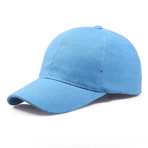 YDXC Gorra Negra Color sólido Gorra de béisbol Snapback Gorra Gorra Sombreros Ajustados Casual Hip Hop papá Sombreros para Hombres Mujeres Unisex aplicar a la Pesca de Correr etc-Sky_Blue