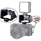 自撮り用ミラー 自撮りモニター VLOG撮影用ミラー ミラーレス一眼カメラ用 LCDミラー VLOG撮影用 アクセサリー Sony A7R3 A7III A7II A6000/A6300/A6500/a6600 FUJIFILM XT2 ST3 XT-20 XT-30 Canon Panasonic GX85 Nikon Z6 Nikon Z7 などに対応