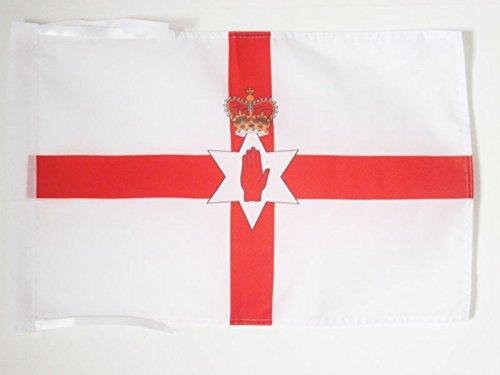 AZ FLAG Flagge NORDIRLAND 45x30cm mit Kordel - IRISCHE NORDFAHNE Fahne 30 x 45 cm - flaggen Top Qualität