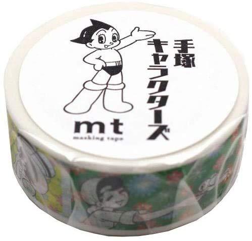 カモ井 マスキングテープ mt 手塚キャラクターズ リボンの騎士×フラワーパターン MTTOPR02 【× 2 個 】