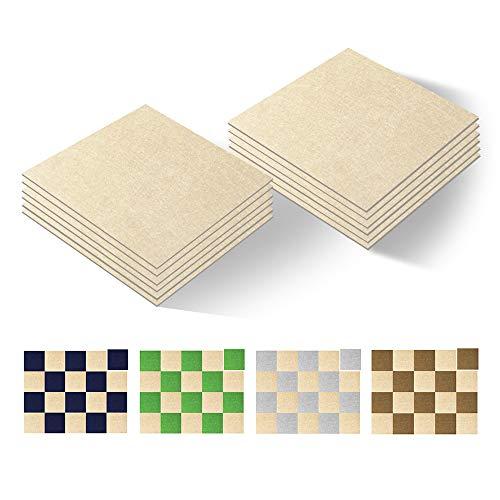 Selbstklebende Bodenfliesen, quadratisch, 30,5 x 30,5 cm, Anti-Rutsch-Matte, Heimtextilien und Bodenschutz, 10 Stück