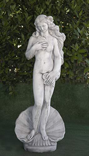 Estatua clásica de Hormigón Venus de Boticcelli 29x24x115cm. - Peso: 68Kg. - Figura, Escultura Romana Estilo jardín Ingles. - Hecho en España.
