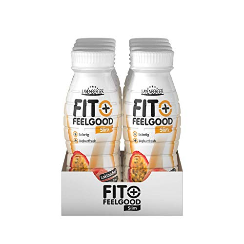 Layenberger Fit+Feelgood Slim-Shake Mahlzeitersatz Pfirsich-Maracuja, 8er Pack (8 x 312 ml)