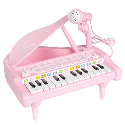 Milisten Teclado de Piano para Bebé Juguete Musical Electrónico Instrumentos Musicales Educativos para Bebé Niños Niño Regalo de Cumpleaños 24 Teclas