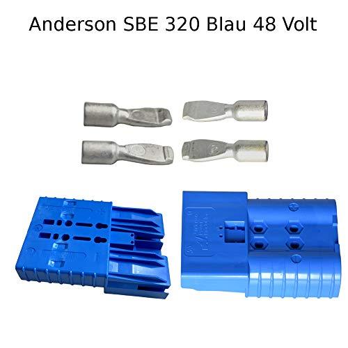 Anderson - Conector de batería (48 V, SBE, 320 A, clavija de contacto SBX/E, 95 mm²), color azul