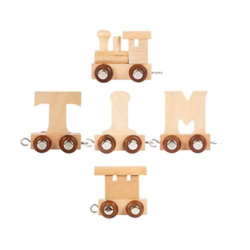 Buchstabenzug Namens-Set Lok + Lotta + Endwaggon | EbyReo® Namenszug aus Holz | personalisierbar | Geschenk zur Geburt | Taufgeschenk | Geschenk zur Einschulung (Lotta)