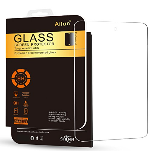Ailun Screen Protector Compatible with Fire 7 7Inch 5th Generation 2015 Release Tempered Glass 9H Hardness 2.5D Edge Ultra Clear Anti Scratch Case Friendly Siania Retail Package