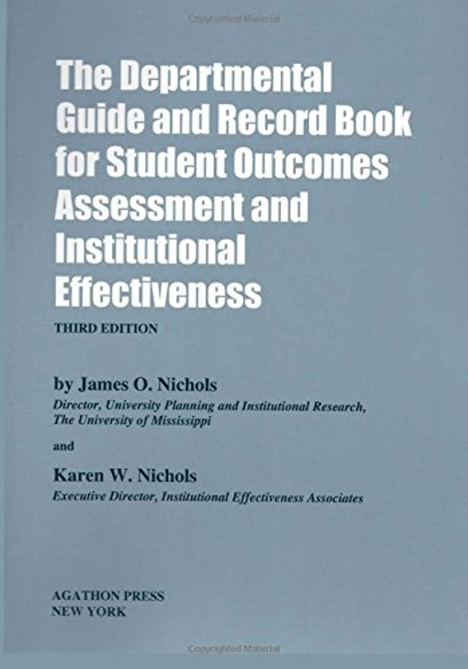 紳士気取りの、きざな啓発する合成The Departmental Guide and Record Book for Student Outcomes Assessment and Institutional Effectiveness