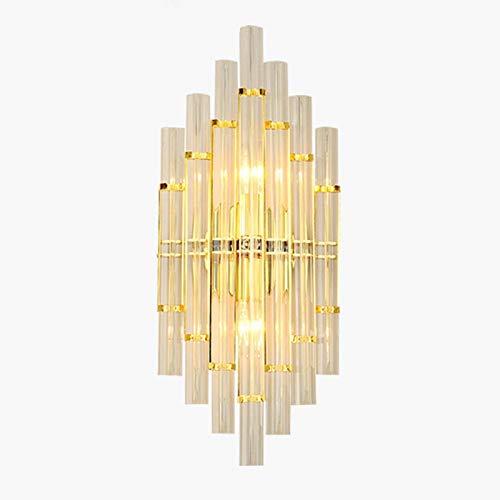 Dormitorio Junto A La Cama TV Pared Luz Arco Lámpara De Cristal-Dorado 22 * 55cm