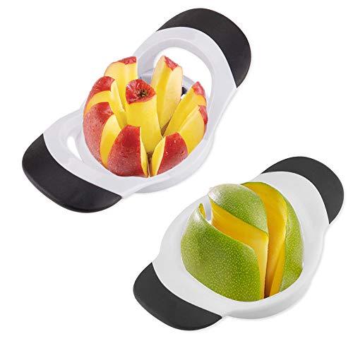 QELEG 8-Blade Ultra-Sharp 100% Stainless Steel Apple Slicer, Mango Slicer Kitchen Tools