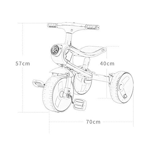 Great Price! Balance Bike for Toddlers and Kids Baby Three in One Balance Bicycle Without Pedal Thre...