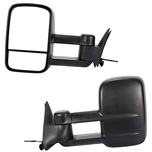 Lowest Prices! YY HEAITH Pair Power Glass Manual Folding Towing Mirrors For 1988-2000 Chevy GMC C/K
