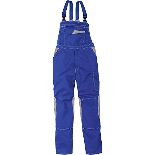 Kübler 33473411-4695-31 Arbeits-Latzhose Image Dress, kornblumenblau/mittelgrau, 31