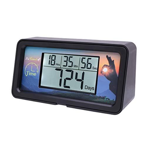 AIMILAR Digitaler Countdown-Tage-Timer – 9999 Tage Countdown Tage Timer mit Hintergrundbeleuchtung für Ruhestand, Hochzeit, Urlaub, Weihnachten, Neugeborene, Klassenzimmer, Labor, Küche