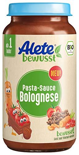 Alete bewusst Bio PastaSauce, Bolognese, ab 1 Jahr, 250 ml