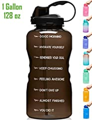 【Motivational Quote & Time Marker】With unique inspirational quote and time marker on it, this water bottle is great for measuring your daily intake of water, reminding you stay hydrated and drink enough water throughout the day. A must have for any f...