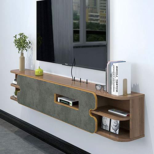 Meuble TV Mural Étagère Murale Étagère Flottante Décodeur Routeur CD DVD Projecteur Armoire de Rangement Console TV Fond de télévision étagère de décoration Murale 1.6M