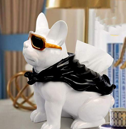 BINGFANG-W Decoración Caja de pañuelos Decoraciones del Arte del Perro del Arte Creativo Bandeja de Mesa de café del hogar de Almacenamiento de Tabla 1 Sala de Estar estatuas