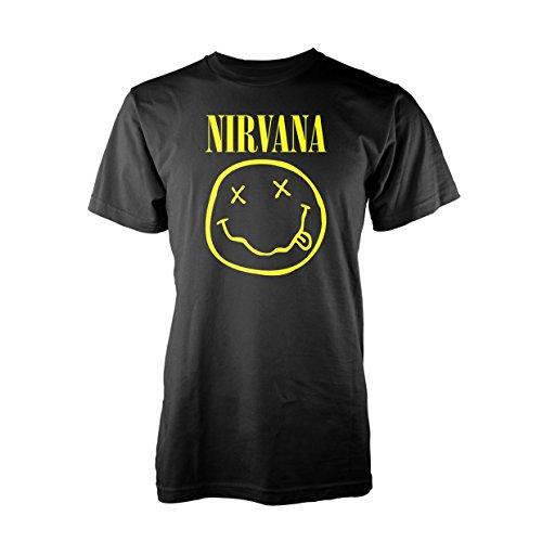 Nirvana Smiley Logo Camiseta Negro M [Italia]