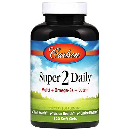Carlson - Super-2-daily, Multi + Omega-3s + Lutein + D3, Vitamins A C...