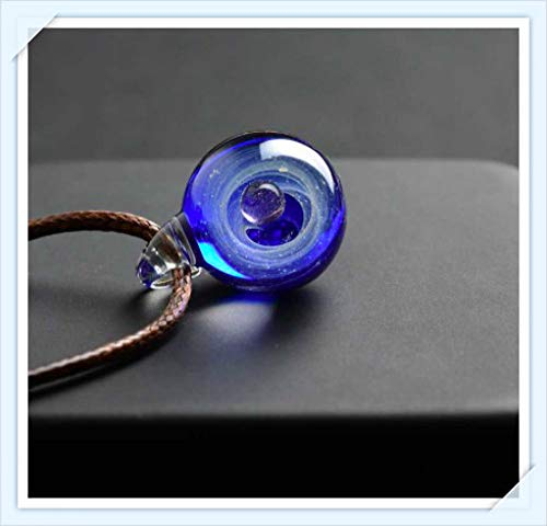 DGSDFGAH Necklace Women Arrival Handmade Glass Nebula Cosmic Galaxy Pendant Necklace Lucky Jewelry,100%Handmade Artwork Jewelry,For Women And Man Most Unique Gift,C