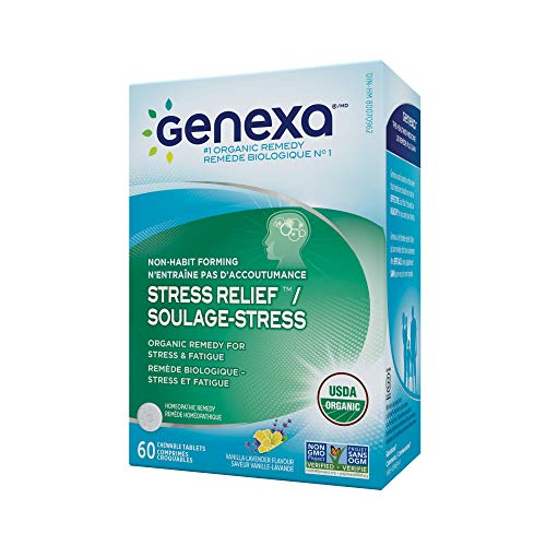 Genexa Stress Relief - 60 Tablets | Certified Organic & Non-GMO, Physician Formulated, Homeopathic | Stress & Fatigue Remedy